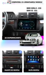 NAVIGATIE BMW E39/E53/E38, ANDROID 9.1, QUADCORE|MTK|/ 1GB RAM + 16GB ROM, 9 INCH - AD-BGPBMWE39MTK1GB15
