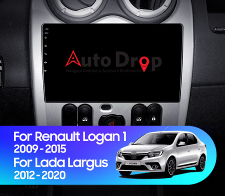 Navigatie Dacia Logan 2009-2015, Android 9.1, QUADCORE|MTK| / 2GB RAM + 32 ROM, 9 Inch - AD-BGPNLOGAN9MTK2GB15