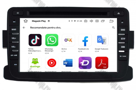 NAVIGATIE Dacia/Renault, ANDROID 9, Octacore|PX5|/ 4GB RAM + 64GB ROM cu DVD, 7 Inch - AD-BGWDACIA7P511
