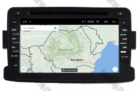NAVIGATIE Dacia/Renault, ANDROID 9, Octacore|PX5|/ 4GB RAM + 64GB ROM cu DVD, 7 Inch - AD-BGWDACIA7P516