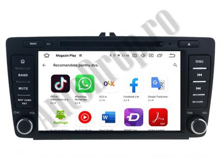 Navigatie Dedicata Skoda, Android 10, OCTACORE|PX5| / 4GB RAM + 64 ROM cu DVD, 7 Inch - AD-BGWSKODA7P512