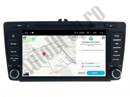 Navigatie Dedicata Skoda, Android 10, OCTACORE|PX5| / 4GB RAM + 64 ROM cu DVD, 7 Inch - AD-BGWSKODA7P59
