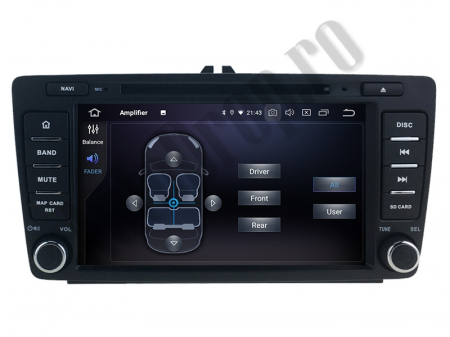 Navigatie Dedicata Skoda, Android 10, OCTACORE|PX5| / 4GB RAM + 64 ROM cu DVD, 7 Inch - AD-BGWSKODA7P57