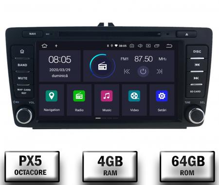 Navigatie Dedicata Skoda, Android 10, OCTACORE|PX5| / 4GB RAM + 64 ROM cu DVD, 7 Inch - AD-BGWSKODA7P50