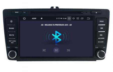 Navigatie Dedicata Skoda, Android 10, OCTACORE|PX5| / 4GB RAM + 64 ROM cu DVD, 7 Inch - AD-BGWSKODA7P53