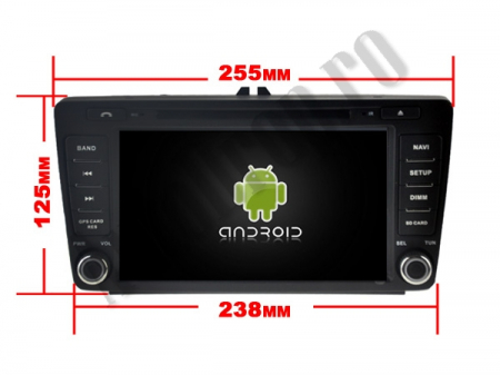 Navigatie Dedicata Skoda, Android 10, OCTACORE|PX5| / 4GB RAM + 64 ROM cu DVD, 7 Inch - AD-BGWSKODA7P516