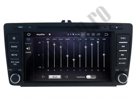 Navigatie Dedicata Skoda, Android 10, OCTACORE|PX5| / 4GB RAM + 64 ROM cu DVD, 7 Inch - AD-BGWSKODA7P52