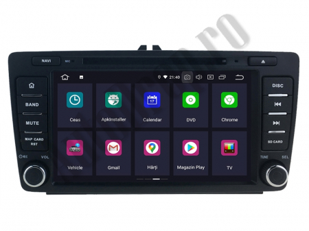 Navigatie Dedicata Skoda, Android 10, OCTACORE|PX5| / 4GB RAM + 64 ROM cu DVD, 7 Inch - AD-BGWSKODA7P56
