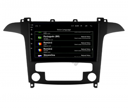 Navigatie Ford S-MAX (2006-2015), Android 9.1, QUADCORE|MTK| / 1GB RAM + 16 ROM, 9 Inch - AD-BGPSMAXMTK6