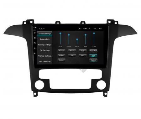 Navigatie Ford S-MAX (2006-2015), Android 9.1, QUADCORE|MTK| / 2GB RAM + 32GB ROM, 9 Inch - AD-BGPSMAXMTK2GB8