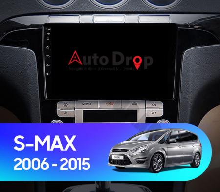 Navigatie Ford S-MAX (2006-2015), Android 9.1, QUADCORE|MTK| / 2GB RAM + 32GB ROM, 9 Inch - AD-BGPSMAXMTK2GB17