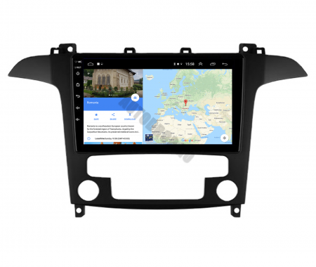 Navigatie Ford S-MAX (2006-2015), Android 9.1, QUADCORE|MTK| / 2GB RAM + 32GB ROM, 9 Inch - AD-BGPSMAXMTK2GB9