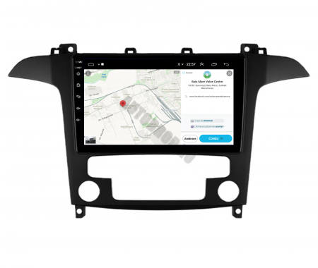 Navigatie Ford S-MAX (2006-2015), Android 9.1, QUADCORE|MTK| / 1GB RAM + 16 ROM, 9 Inch - AD-BGPSMAXMTK10