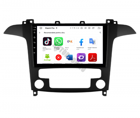 Navigatie Ford S-MAX (2006-2015), Android 9.1, QUADCORE|MTK| / 1GB RAM + 16 ROM, 9 Inch - AD-BGPSMAXMTK7