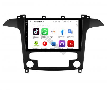 Navigatie Ford S-MAX (2006-2015), Android 9.1, QUADCORE|MTK| / 2GB RAM + 32GB ROM, 9 Inch - AD-BGPSMAXMTK2GB7