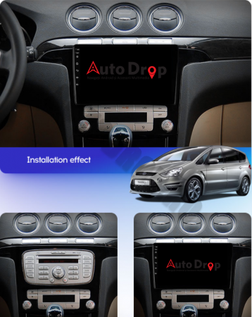 Navigatie Ford S-MAX (2006-2015), Android 9.1, QUADCORE|MTK| / 2GB RAM + 32GB ROM, 9 Inch - AD-BGPSMAXMTK2GB18