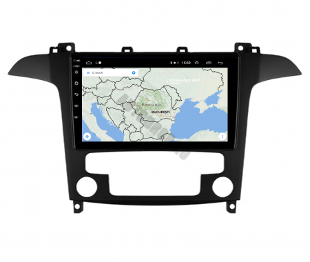 Navigatie Ford S-MAX (2006-2015), Android 9.1, QUADCORE|MTK| / 1GB RAM + 16 ROM, 9 Inch - AD-BGPSMAXMTK11