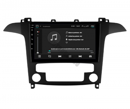 Navigatie Ford S-MAX (2006-2015), Android 9.1, QUADCORE|MTK| / 1GB RAM + 16 ROM, 9 Inch - AD-BGPSMAXMTK4