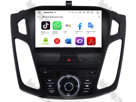 Navigatie Ford Focus 3, Android 9, Quadcore|PX30| / 2GB RAM + 16GB ROM cu DVD, 9 Inch - AD-BGWFORD3P311