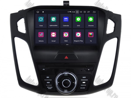 Navigatie Ford Focus 3, Android 9, Quadcore|PX30| / 2GB RAM + 16GB ROM cu DVD, 9 Inch - AD-BGWFORD3P32