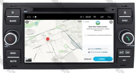 Navigatie Ford Focus/Fiesta/C-Max/S-Max/Kuga/Transit, Android 10, Quadcore|PX30| / 2GB RAM + 16GB ROM cu DVD, 7 Inch - AD-BGWFORDD7P3-B8