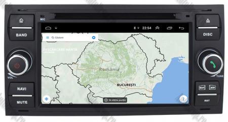 Navigatie Ford Focus/Fiesta/C-Max/S-Max/Kuga/Transit, Android 10, Quadcore|PX30| / 2GB RAM + 16GB ROM cu DVD, 7 Inch - AD-BGWFORDD7P3-B16