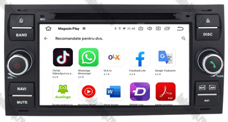 Navigatie Ford Focus/Fiesta/C-Max/S-Max/Kuga/Transit, Android 10, Quadcore|PX30| / 2GB RAM + 16GB ROM cu DVD, 7 Inch - AD-BGWFORDD7P3-B11