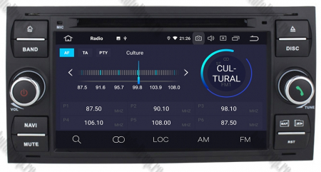 Navigatie Ford Focus/Fiesta/C-Max/S-Max/Kuga/Transit, Android 10, Quadcore|PX30| / 2GB RAM + 16GB ROM cu DVD, 7 Inch - AD-BGWFORDD7P3-B4