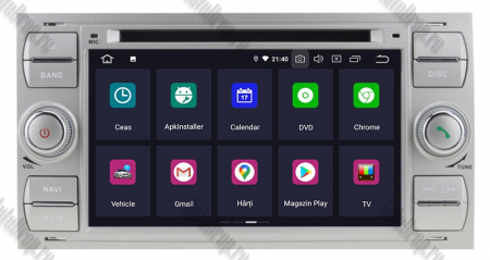 NAVIGATIE FORD FOCUS/MONDEO/S-MAX/Transit/Tourneo, ANDROID 10, Octacore|PX5| / 4GB RAM + 64GB ROM CU DVD, 7 INCH - AD-BGWFORDD7P5-S2