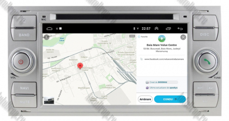 NAVIGATIE FORD FOCUS/MONDEO/S-MAX/Transit/Tourneo, ANDROID 10, Octacore|PX5| / 4GB RAM + 64GB ROM CU DVD, 7 INCH - AD-BGWFORDD7P5-S12