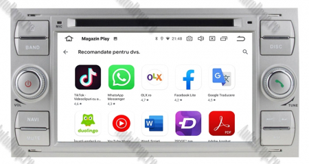 Navigatie Ford Focus/Fiesta/C-Max/S-Max/Kuga/Tranzit, Android 10, Quadcore|PX30| / 2GB RAM + 16GB ROM cu DVD, 7 Inch - AD-BGWFORDDD7P3-S9