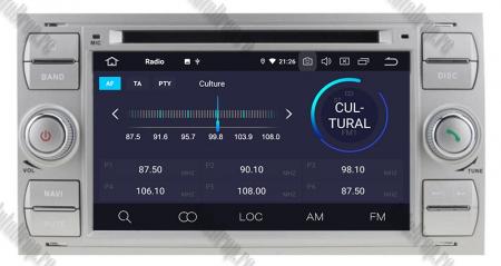 Navigatie Ford Focus/Fiesta/C-Max/S-Max/Kuga/Tranzit, Android 10, Quadcore|PX30| / 2GB RAM + 16GB ROM cu DVD, 7 Inch - AD-BGWFORDDD7P3-S4
