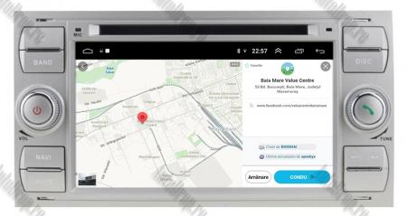 Navigatie Ford Focus/Fiesta/C-Max/S-Max/Kuga/Tranzit, Android 10, Quadcore|PX30| / 2GB RAM + 16GB ROM cu DVD, 7 Inch - AD-BGWFORDDD7P3-S12