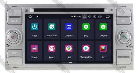 Navigatie Ford Focus/Fiesta/C-Max/S-Max/Kuga/Tranzit, Android 10, Quadcore|PX30| / 2GB RAM + 16GB ROM cu DVD, 7 Inch - AD-BGWFORDDD7P3-S2