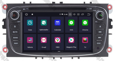 NAVIGATIE FORD FOCUS/MONDEO/S-MAX/Transit/Tourneo, ANDROID 10, Octacore|PX5| / 4GB RAM + 64GB ROM CU DVD, 7 INCH - AD-BGWFORDO7P5-B1