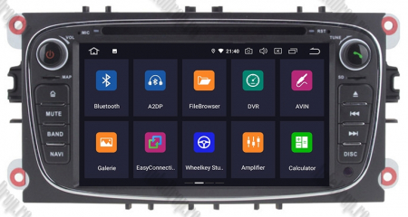 NAVIGATIE FORD FOCUS/MONDEO/S-MAX/Transit/Tourneo, ANDROID 10, Octacore|PX5| / 4GB RAM + 64GB ROM CU DVD, 7 INCH - AD-BGWFORDO7P5-B2
