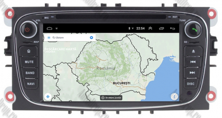NAVIGATIE FORD FOCUS/MONDEO/S-MAX/Transit/Tourneo, ANDROID 10, Octacore|PX5| / 4GB RAM + 64GB ROM CU DVD, 7 INCH - AD-BGWFORDO7P5-B14