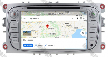 NAVIGATIE FORD FOCUS/MONDEO/S-MAX/Transit/Tourneo, ANDROID 10, Octacore|PX5| / 4GB RAM + 64GB ROM CU DVD, 7 INCH - AD-BGWFORDO7P5-S12