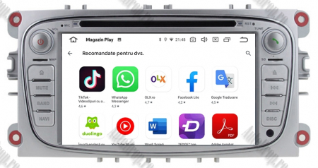 NAVIGATIE FORD FOCUS/MONDEO/S-MAX/Transit/Tourneo, ANDROID 10, Octacore|PX5| / 4GB RAM + 64GB ROM CU DVD, 7 INCH - AD-BGWFORDO7P5-S10