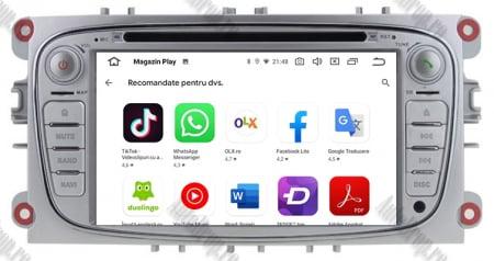 NAVIGATIE FORD FOCUS/MONDEO/S-MAX/Transit/Tourneo, ANDROID 10, Octacore|PX5| / 4GB RAM + 64GB ROM CU DVD, 7 INCH - AD-BGWFORDO7P5-S9