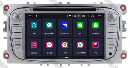 NAVIGATIE FORD FOCUS/MONDEO/S-MAX/Transit/Tourneo, ANDROID 10, Octacore|PX5| / 4GB RAM + 64GB ROM CU DVD, 7 INCH - AD-BGWFORDO7P5-S1
