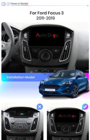 Navigatie Ford Focus 3 (2011-2019), Android 9.1, QUADCORE|MTK| / 2GB RAM + 32GB ROM, 9 Inch - AD-BGPFF3MTK2GB14