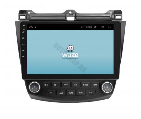 Navigatie Honda Accord 7 (2005-2008), Android 9.1, QUADCORE|MTK| / 1GB RAM + 16 ROM, 10.1 Inch - AD-BGPACCORD7MTK13