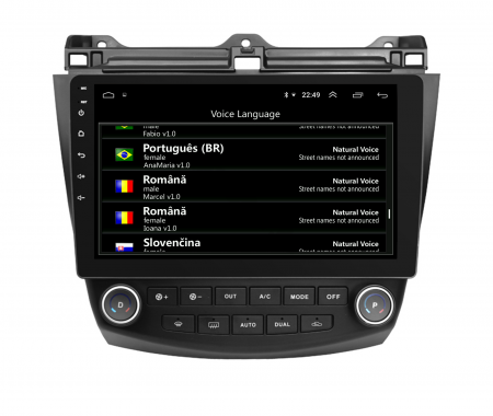Navigatie Honda Accord 7 (2005-2008), Android 9.1, QUADCORE|MTK| / 1GB RAM + 16 ROM, 10.1 Inch - AD-BGPACCORD7MTK12