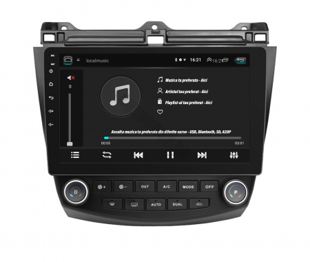 Navigatie Honda Accord 7 (2005-2008), Android 9.1, QUADCORE|MTK| / 2GB RAM + 32GB ROM, 10.1 Inch - AD-BGPACCORD7MTK2GB6