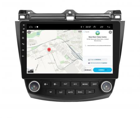 Navigatie Honda Accord 7 (2005-2008), Android 9.1, QUADCORE|MTK| / 1GB RAM + 16 ROM, 10.1 Inch - AD-BGPACCORD7MTK10