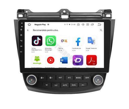 Navigatie Honda Accord 7 (2005-2008), Android 9.1, QUADCORE|MTK| / 1GB RAM + 16 ROM, 10.1 Inch - AD-BGPACCORD7MTK8