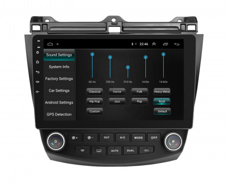 Navigatie Honda Accord 7 (2005-2008), Android 9.1, QUADCORE|MTK| / 1GB RAM + 16 ROM, 10.1 Inch - AD-BGPACCORD7MTK5