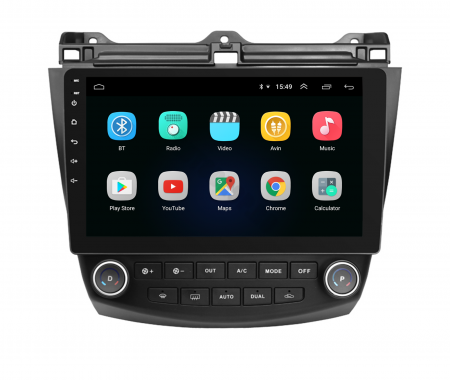 Navigatie Honda Accord 7 (2005-2008), Android 9.1, QUADCORE|MTK| / 1GB RAM + 16 ROM, 10.1 Inch - AD-BGPACCORD7MTK2