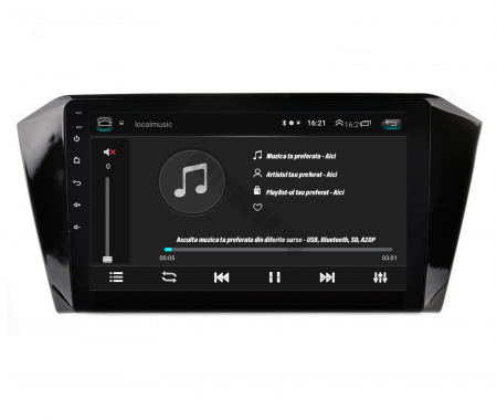 Navigatie Volkswagen Passat B8, Android 9.1, QUADCORE|MTK| / 2GB RAM + 32GB ROM, 10.1 Inch - AD-BGPVWB8MTK2GB5